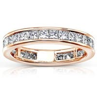 Annello by Kobelli 14k Gold 2ct TDW Diamond Eternity Wedding Band