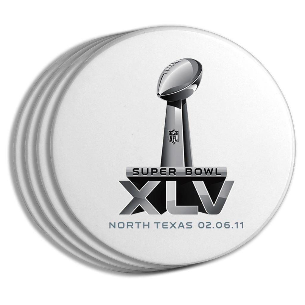 Super Bowl XLV Logo Coasters (Set of 4)