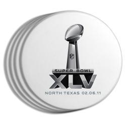 Super Bowl XLV Logo Coasters (Set of 4) - Thumbnail 1