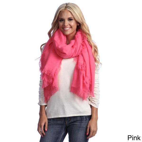 Cashmere Showroom Wool-blend Feathered Fringed Stylish Soft Wrap