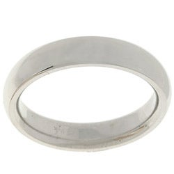 10k White Gold Men's Comfort Fit 4-mm Wedding Band