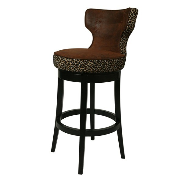Shop Augusta Black Wood Swivel Counter Stool Free