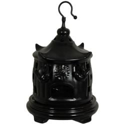 Porcelain 11-inch Solid Black Bird Cage (China)