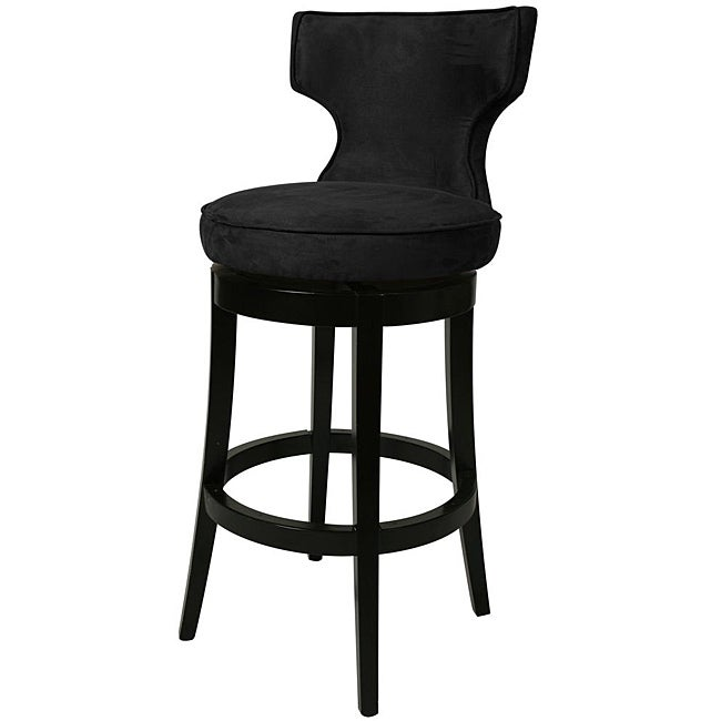 shop augusta black wood swivel bar stool free shipping today 5675201. Black Bedroom Furniture Sets. Home Design Ideas