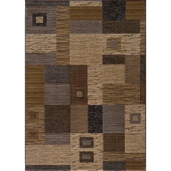 Illusion Power-loomed Squares Multi Rug (9'3 x 12'6)