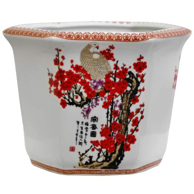 Porcelain Cherry Blossom Flower Pot Planter