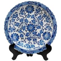 Buy Decorative Plates Blue Accent Pieces Online At Overstock Our Best Accessories Deals