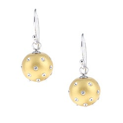 La Preciosa Sterling Silver and Gold Enamel Crystal Circle Earrings