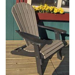 ... Forever Phat Tommy Two Tone Recycled Folding Adirondack Chair    Thumbnail 2