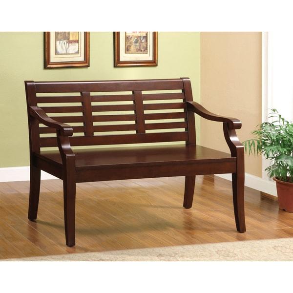 Furniture of America Vanity Dark Cherry Bench
