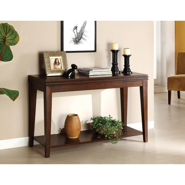 Furniture of America Maxfield Dark Cherry Console Table