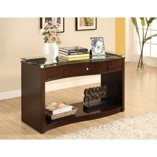 Abbyson Cosmo Espresso Wood Sofa Table Free Shipping