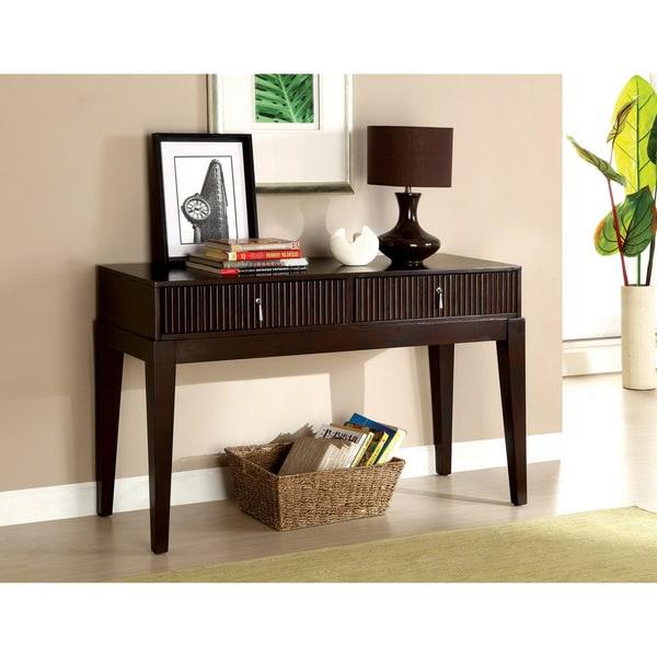 Furniture of America Avondale Dark Walnut Console Table