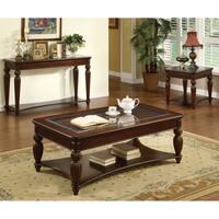 Furniture of America Morgan Beveled Glass Sofa/ Entryway Table