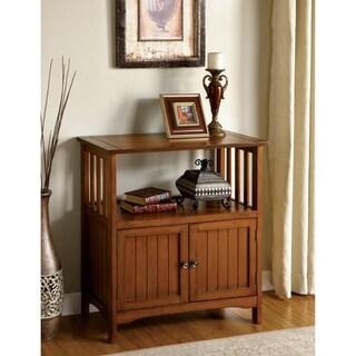 Furniture of America Sebastian Antique Oak Double-door Side Cabinet