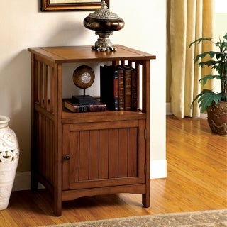 Furniture of America Sebastian Antique Oak Side Cabinet