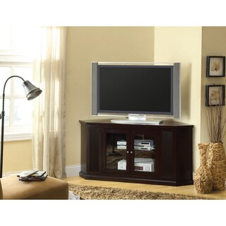 furniture of america lively espresso wood tv console