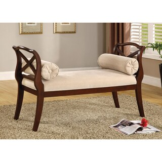 Furniture of America Bella Transitional Dark Cherry Sette Bench
