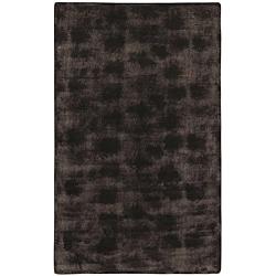 Faux Fur Brown/Black Animal Area Rug (5' x 8')