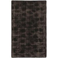Faux Fur Brown/Black Animal Area Rug - 5' x 8'