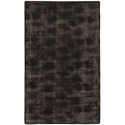 Brown/Black Animal Faux-Fur Area Rug (5'6 x 8'6)