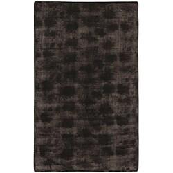 Brown/Black Animal Faux-Fur Area Rug - 5'6 x 8'6