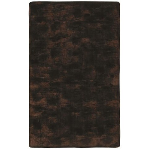 Faux Fur Brown/ Black Animal Rug - 5' x 8'