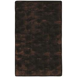 Faux Fur Brown/ Black Animal Rug - 5' x 8'