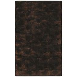 Faux Fur Brown/ Black Animal Rug - 5'6 x 8'6