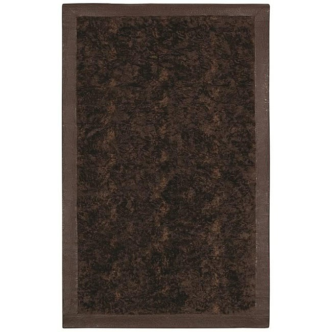 Faux Fur Brown/ Beige Animal Rug - 5' x 8'