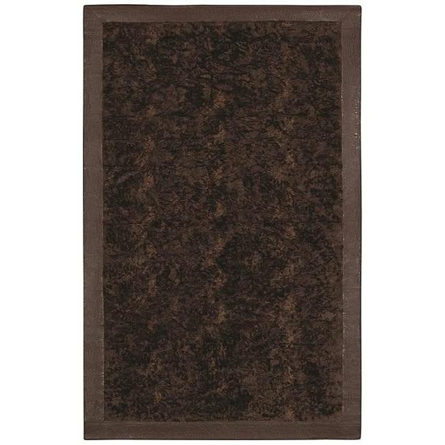 Faux Fur Brown/ Beige Animal Rug (5' x 8')