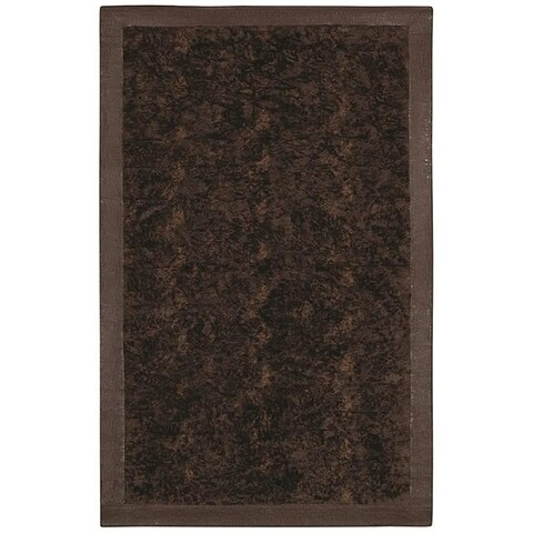 Faux Fur Brown/ Beige Animal Rug - 5'6 x 8'6