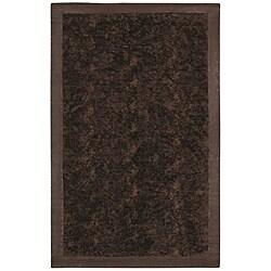Faux Fur Brown/ Beige Animal Rug - 5'6 x 8'6