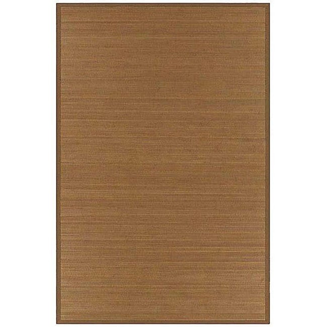 Hand-woven Brown Rayon from Bamboo Rug (8' x 10')