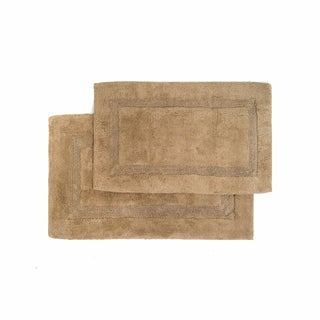 Nuevo Collection Cotton Non-skid Latex Backing 2-piece Bath Rug Set - Includes BONUS Step Out Mat (4 options available)