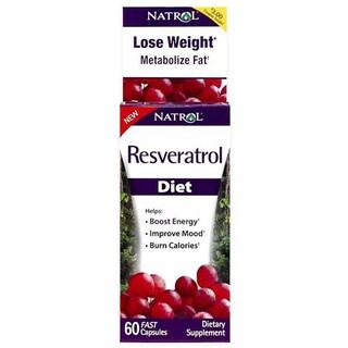 Natrol Resveratrol Diet 60 Capsules