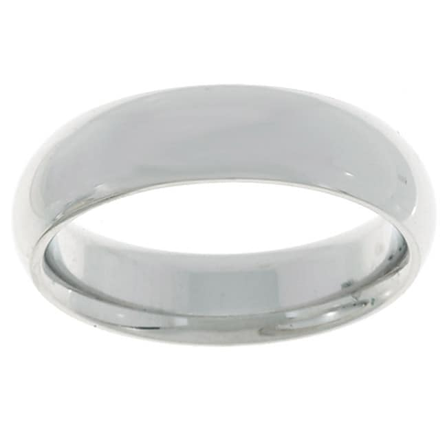 10k White Gold Women's Comfort Fit 5mm Wedding Band - Thumbnail 0