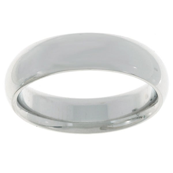 10k White Gold Women's Comfort Fit 5mm Wedding Band