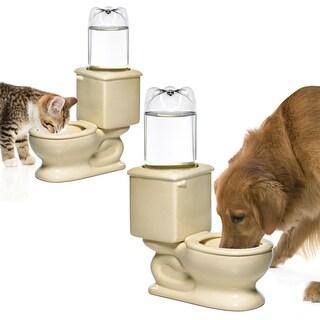 Refilling White Glazed Ceramic Toilet Water Bowl