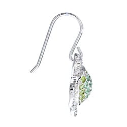 La Preciosa Sterling Silver Green Cubic Zirconia Turtle Earrings - Thumbnail 1