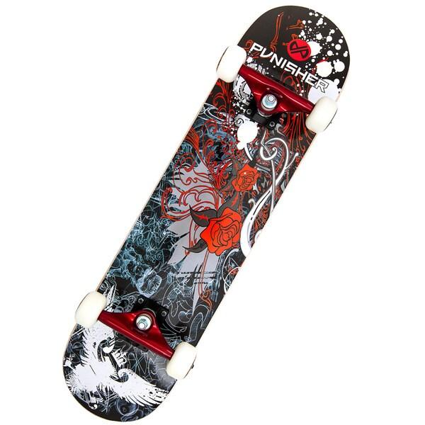 Punisher Skateboards Rose 31-inch Complete Skateboard