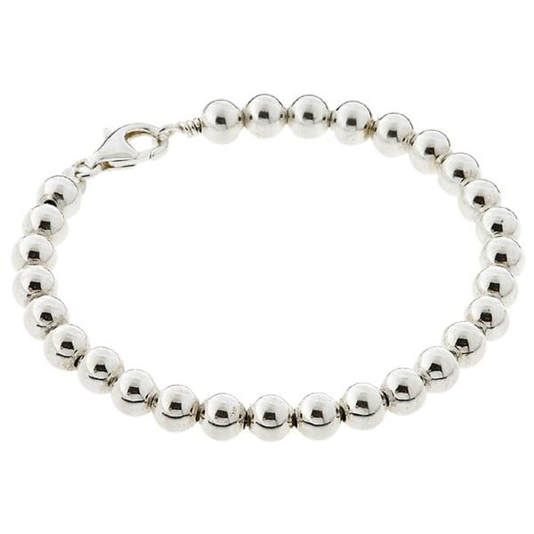 Journee Collection  Sterling Silver Bead Bracelet