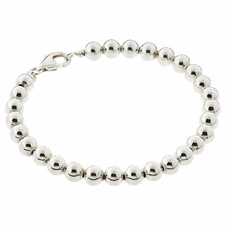Journee Collection Sterling Silver Bead Bracelet