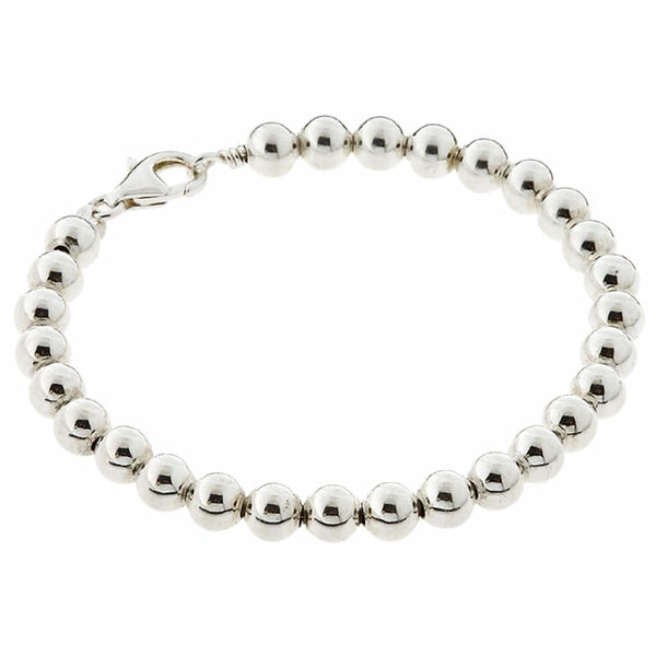 Sterling Silver Clic Bead Bracelet