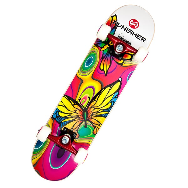 Punisher Skateboards Butterfly Jive 31-inch Complete Skateboard