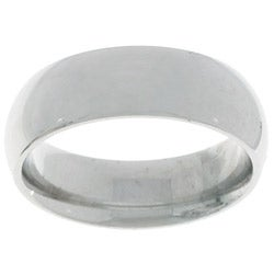 14k White Gold Men's 6-mm Comfort Fit Wedding Band