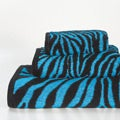 Aqua Zebra Cotton 3-piece Towel Set