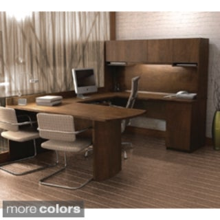 Plain U Shaped Office Desk Bestar Executive Ushaped Workstation Inside Decor