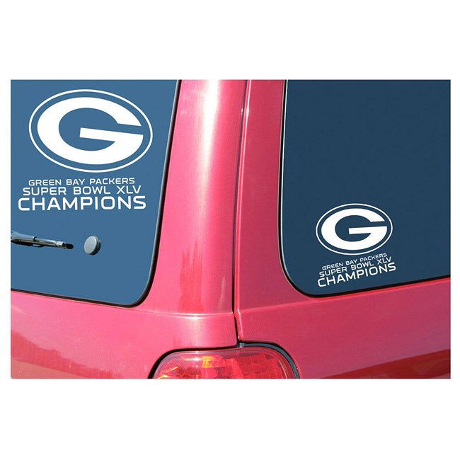 Green Bay Packers Super Bowl Champion Window Graphic