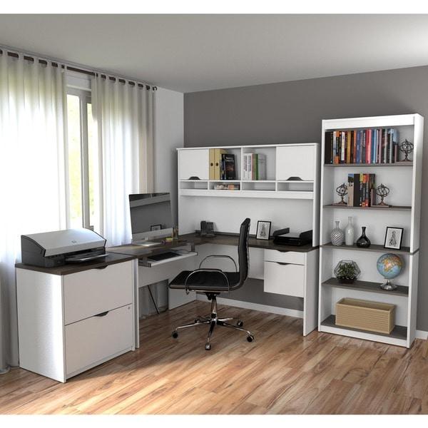 Bestar Innova L-shaped Workstation Set